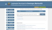 Câmara Municipal coloca no ar a nova plataforma das Leis Municipais de Domingos Martins