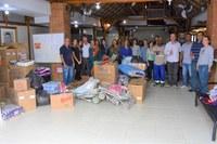 Câmara envia a primeira leva de doações para as vítimas das chuvas no ES
