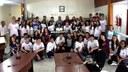 Estudantes da EEEFM Teófilo Paulino visitam a Câmara