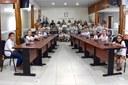 Estudantes da EMPEF Floriano Augusto Dittrich visitam a Câmara