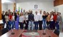 Senador Fabiano Contarato visita o Legislativo martinense
