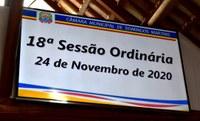 Resumo da 18ª Sessão Ordinária de 2020