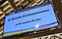Resumo e os resultados das votações da 4ª sessão extraordinária de 2021